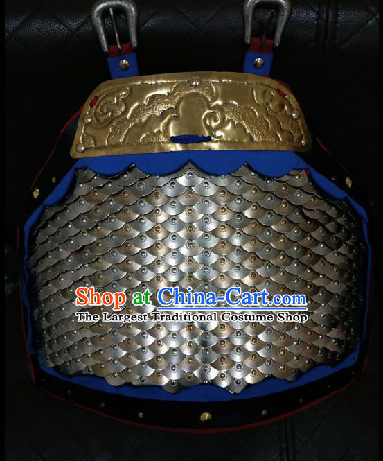 Chinese Traditional Ming Dynasty Imperial Bodyguard Vest Armor Ancient Swordsman Dragon Scales Breastplate for Men