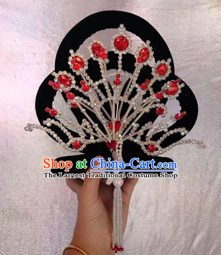 Traditional Chinese Opera Wig Chignon Phoenix Hairpins Headdress Peking Opera Diva Hair Accessories for Women