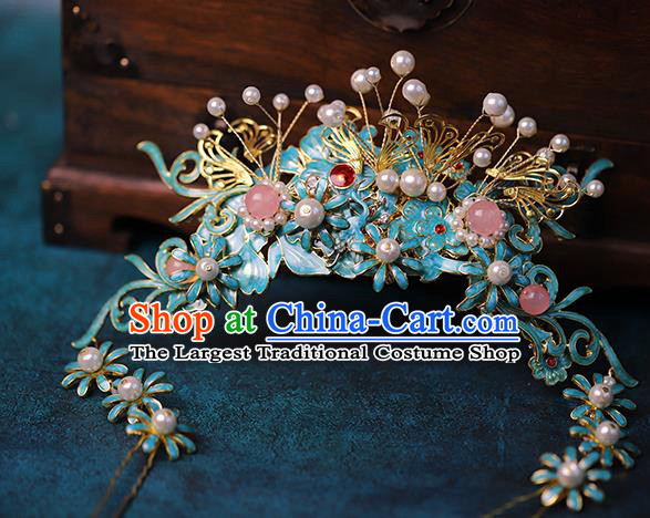 Traditional Chinese Qing Dynasty Hair Crown Headdress Ancient Queen Hair Accessories for Women