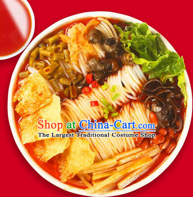 China Liuzhou River Snails Rice Noodle Qing Yunjie Rice Noodles Guangxi Famous Local Food