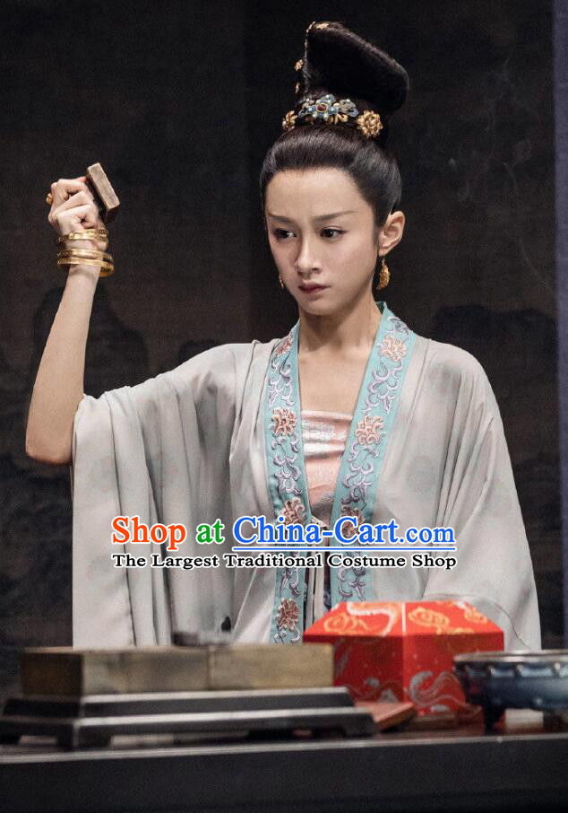 Chinese Ancient Song Dynasty Princess Rani Qi Drama Royal Nirvana Replica Costumes for Women
