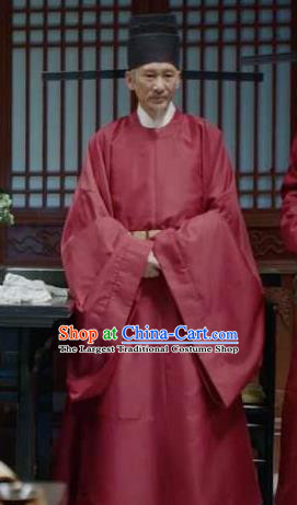 Chinese Ancient Drama Royal Nirvana Grand Tutor Lu Shiyu Replica Costumes and Headdress Complete Set