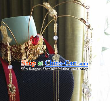 Traditional Chinese Wedding Phoenix Coronet Hairpin Headdress Ancient Court Queen Hair Accessories for Women