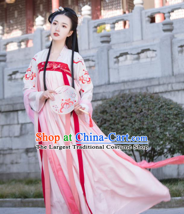 Chinese Traditional Tang Dynasty Palace Princess Hanfu Dress Ancient Court Lady Historical Costumes for Women