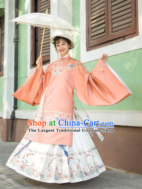 Chinese Traditional Ming Dynasty Blouse and Skirt Ancient Royal Infanta Historical Costumes for Women
