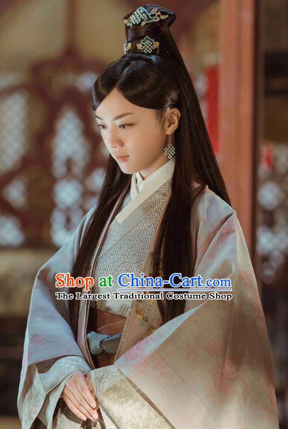 Chinese Drama Ancient Ming Dynasty Dauphine Concubine Sun Ruowei Replica Costumes and Headpiece for Women