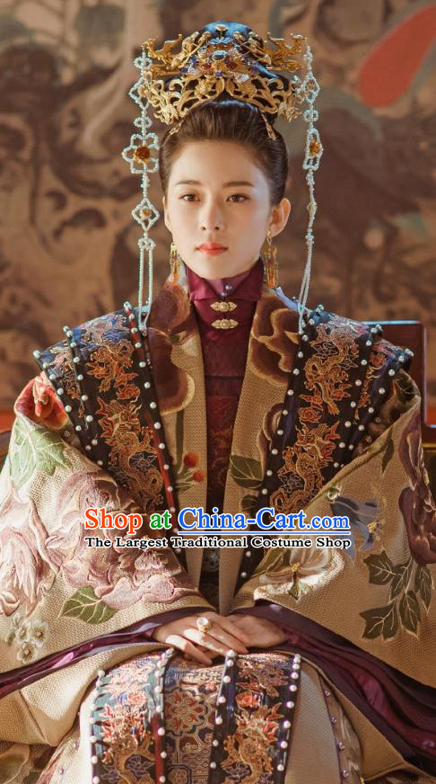 Empress of the Ming Chinese Ancient Drama Ming Dynasty Noble Consort An Replica Costumes and Headpiece Complete Set