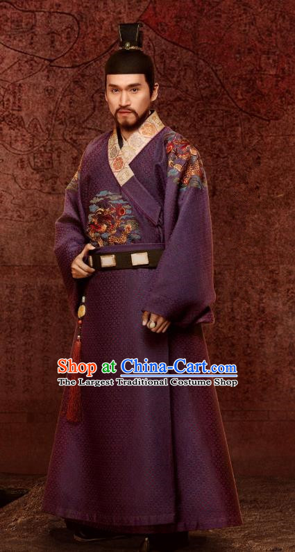 Chinese Ancient Ming Dynasty Prince of Zhao Drama Empress of the Ming Zhu Gaosui Replica Costumes and Headpiece for Men
