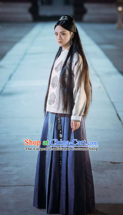 Chinese Drama Ancient Ming Dynasty Female Swordsman Sun Ruowei Replica Costumes for Women