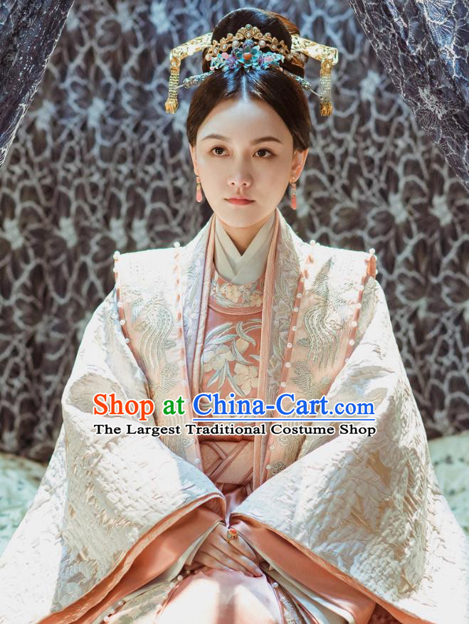 Drama Empress of the Ming Dynasty Chinese Ancient Consort Pu Replica Costumes and Headpiece Complete Set