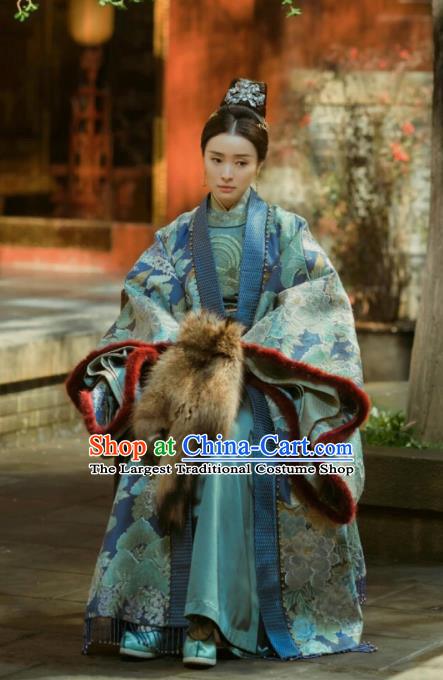 Chinese Ancient Drama Empress of the Ming Dynasty Crown Princess Replica Costumes and Headpiece Complete Set