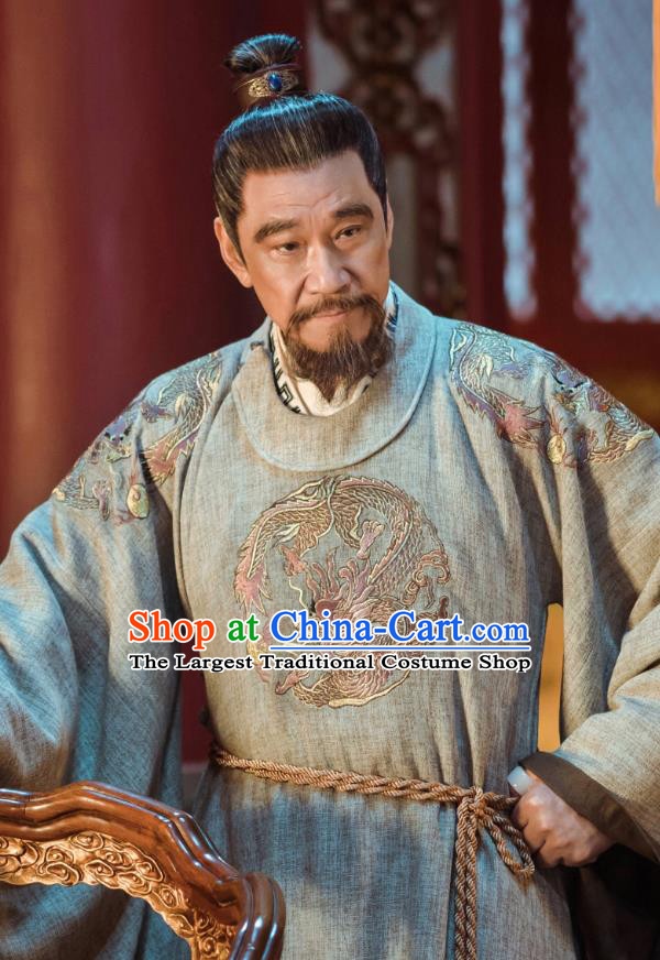 Chinese Ancient Yongle Emperor Embroidered Clothing Drama Empress of the Ming Dynasty Zhu Di Replica Costumes for Men