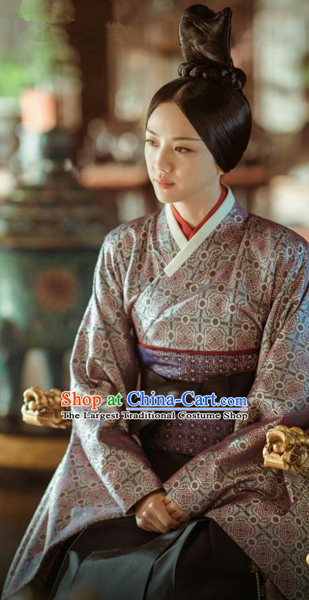 Drama Chinese Empress of the Ming Dynasty Ancient Queen Sun Replica Costumes and Headpiece Complete Set