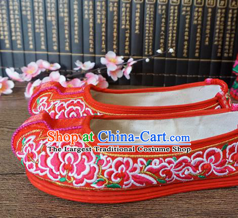 Traditional Chinese Wedding Red Embroidered Shoes Princess Shoes National Shoes Hanfu Shoes for Women