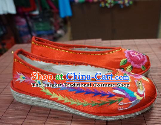 Traditional Chinese Wedding Red Satin Embroidered Shoes Princess Shoes National Shoes Hanfu Shoes for Women