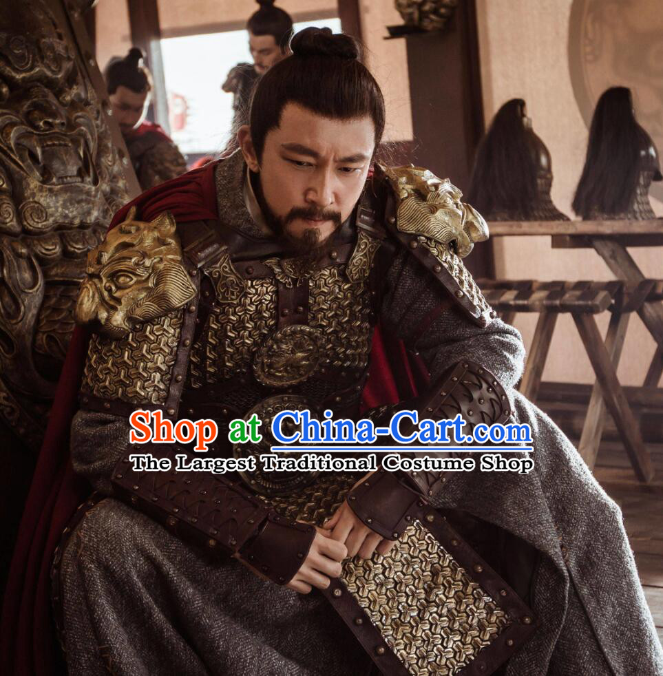 Ancient Chinese Drama Ming Dynasty Official Yu Qian Armor Replica Costumes for Men