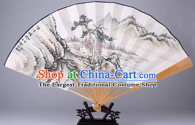 Traditional Chinese Handmade Ink Painting Paper Folding Fan China Accordion Fan Oriental Fan