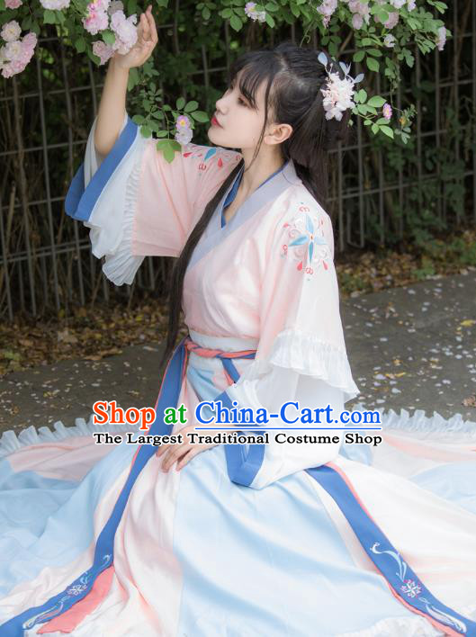 Traditional Chinese Ancient Royal Princess Hanfu Dress Jin Dynasty Patrician Lady Historical Costumes for Women