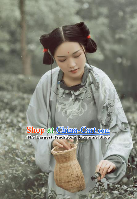 Traditional Chinese Ancient Palace Lady Robe Tang Dynasty Court Maid Historical Costumes for Women