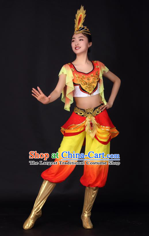 Chinese Traditional Xinjiang Uygur Dance Clothing China Uyghur Nationality Stage Performance Costume for Women