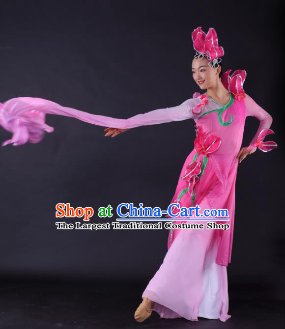 Chinese Classical Dance Water Sleeve Dance Pink Dress Traditional Stage Performance Costume for Women