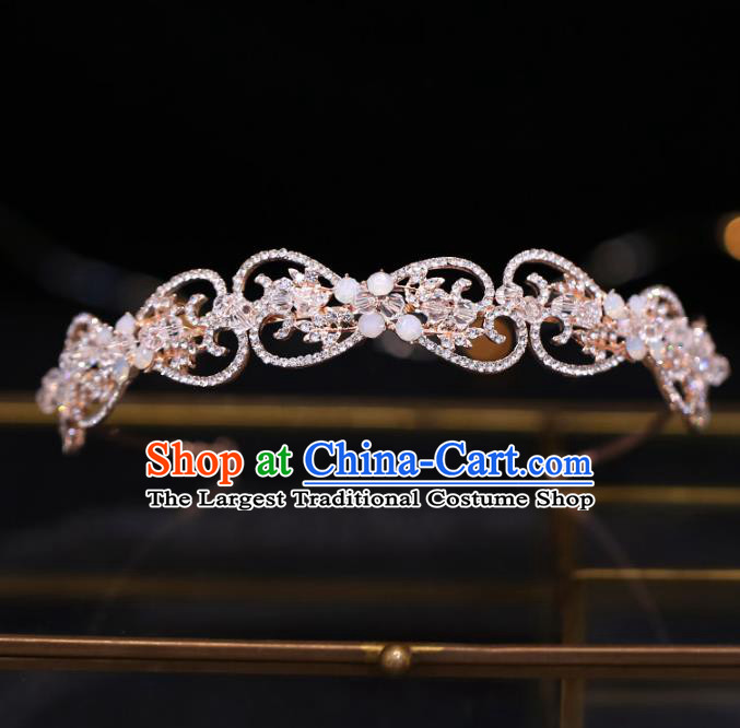 Top Grade Bride Baroque Crystal Hair Clasp Royal Crown Wedding Hair Accessories for Women