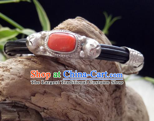 Chinese Zang Nationality Bracelet Handmade Traditional Tibetan Ethnic Jewelry Accessories for Women