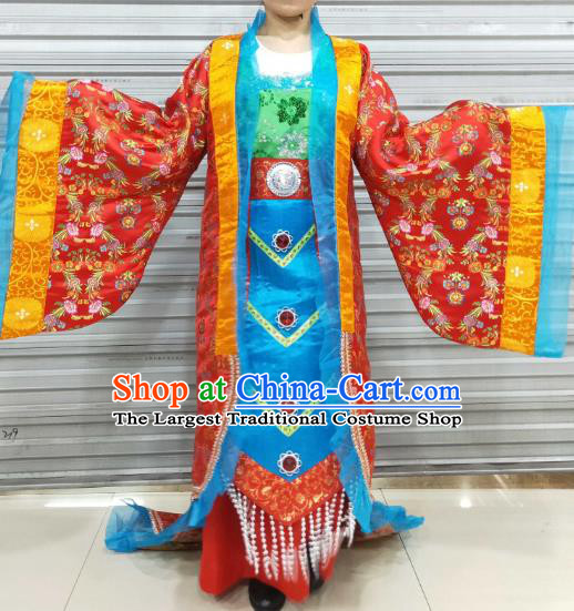 Chinese Ancient Empress Costumes Traditional Tang Dynasty Court Queen Hanfu Dresses for Women