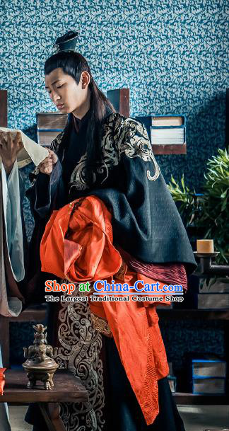 Chinese Ancient Royal Prince Historical Drama Love is More Than A Word Costume and Headpiece for Men