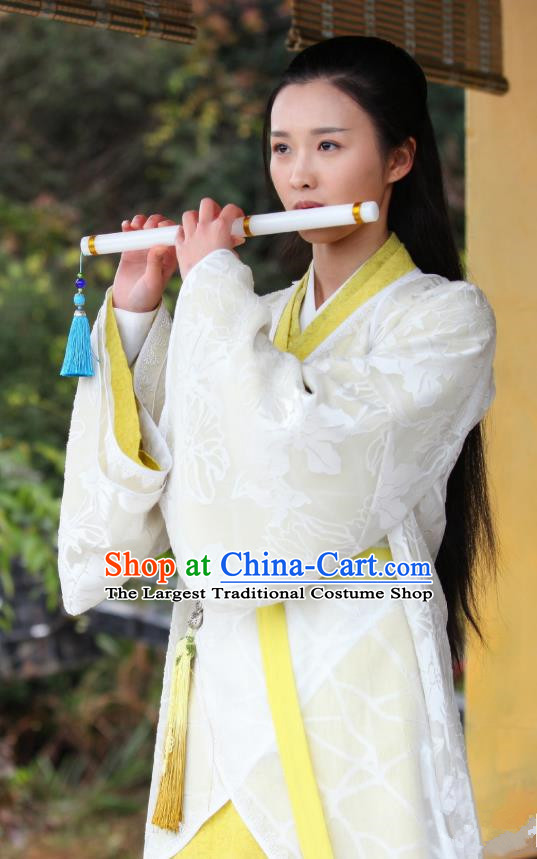 Chinese Drama Devastating Beauty Ancient Noble Lady Huangpu Liying Costume and Headpiece for Women