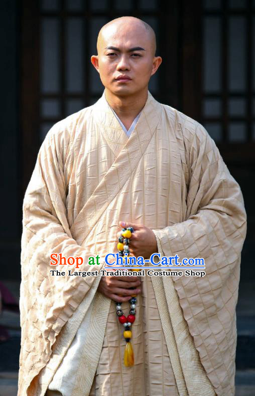 Chinese Ancient Monk Clothing Historical Drama Devastating Beauty Costume for Men