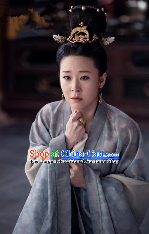 Royal Nirvana Chinese Ancient Imperial Consort Zhao Historical Costume Song Dynasty Court Dress and Headpiece for Women
