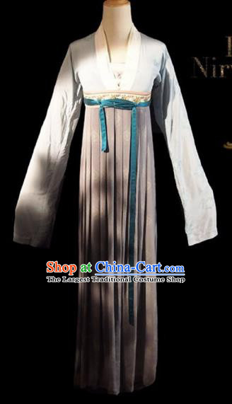 Chinese Ancient Palace Maid Costume Historical Drama Royal Nirvana Lu Wenxi Song Dynasty Hanfu Dress for Women
