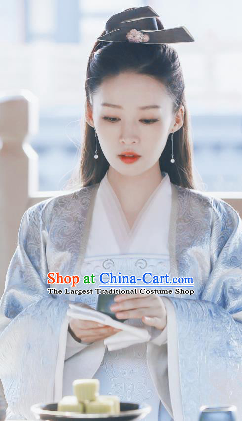 Qing Yu Nian Chinese Ancient Infanta Lin Wan Er Drama Joy of Life Replica Costume and Headpiece Complete Set