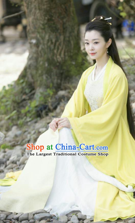 Qing Yu Nian Chinese Ancient Noble Lady Fan Ruoruo Drama Joy of Life Replica Costume and Headpiece Complete Set