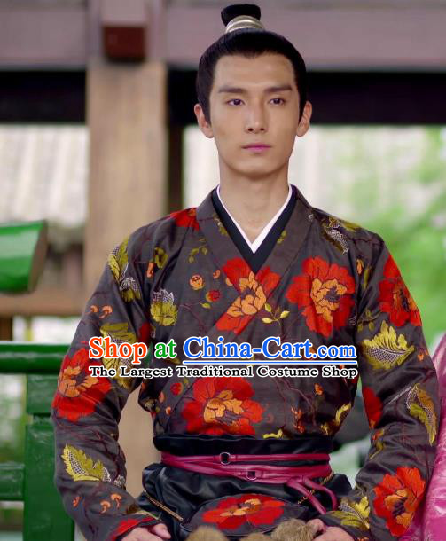 Chinese Ancient Crown Prince Qi Sheng Clothing Historical Drama Go Princess Go Costume and Headpiece for Men