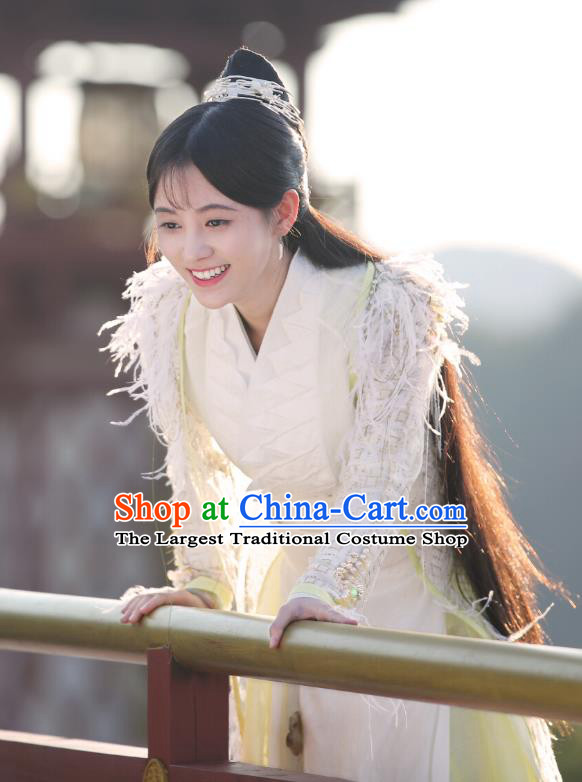 Chinese Ancient Patrician Lady Han Yunxi Hanfu Dress Drama Legend of Yun Xi Costume and Headpiece for Women