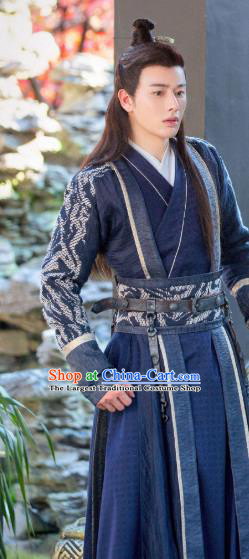 Chinese Ancient Royal Prince Clothing Historical Drama Legend of Yun Xi Costume and Headpiece for Men