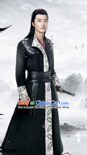 Chinese Ancient Swordsman Zhao Wohuan Clothing Historical Drama Xia Tan Jian Bu Zhi Costume for Men