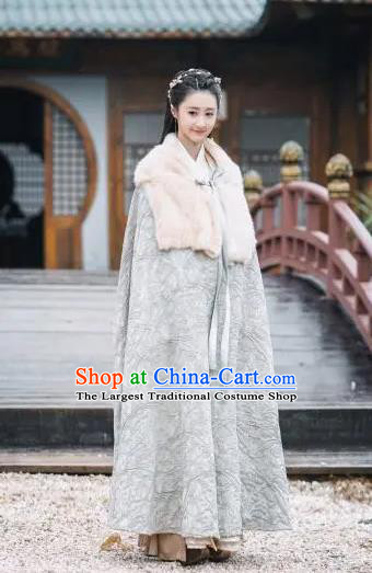 Drama Xia Tan Jian Bu Zhi Chinese Ancient Female Killer Ming Yue Dress Costume and Headpiece for Women