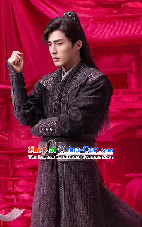 Chinese Ancient Swordsman Su Fu Clothing Historical Drama Miss Truth Tang Dynasty Costume and Headpiece for Men
