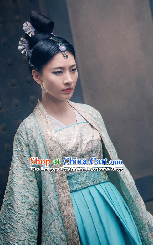 Drama Miss Truth Chinese Ancient Princess Baling Hanfu Dress Tang Dynasty Costume and Headpiece for Women