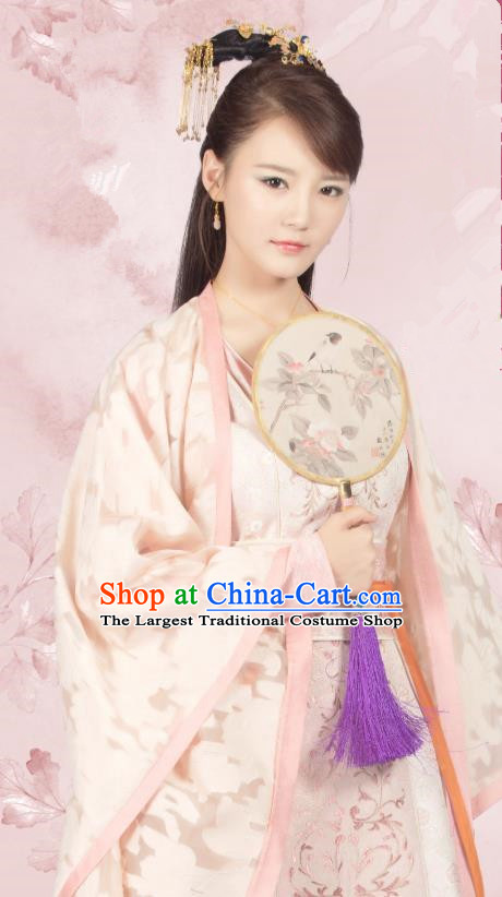 Chinese Ancient Princess Han Ruoxue Hanfu Dress Drama Legend of Yun Xi Costume and Headpiece for Women