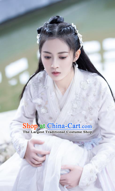 Drama The Love Lasts Two Minds Chinese Ancient Princess Yuan Qingli Hanfu Dress Costume and Headpiece for Women
