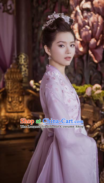Chinese Drama The Love Lasts Two Minds Ancient Princess Chang Le Hanfu Dress Costume and Headpiece for Women