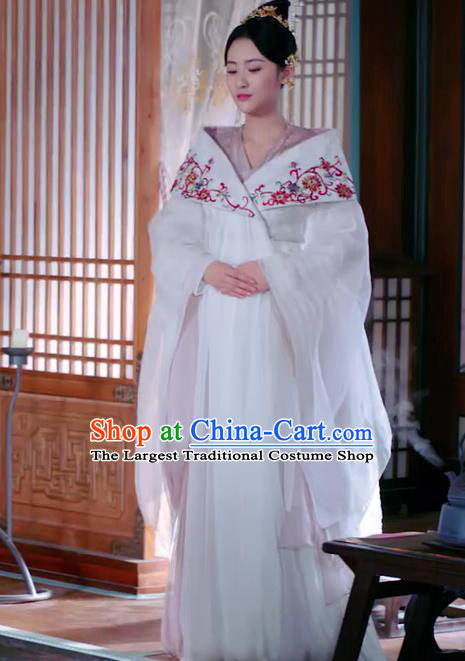Chinese Ancient Princess Chang Le Hanfu Dress Drama The Love Lasts Two Minds Costume and Headpiece for Women
