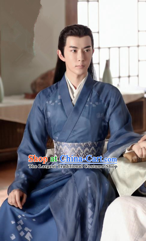 Chinese Ancient Royal Prince Jing Ci Clothing Historical Drama The Love Lasts Two Minds Costume and Headpiece for Men