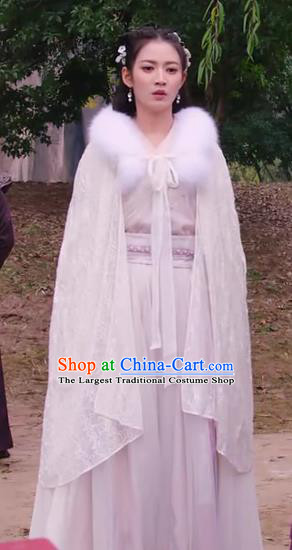 Chinese Ancient Patrician Lady Feng Wanmian Hanfu Dress Drama The Love Lasts Two Minds Costume and Headpiece for Women