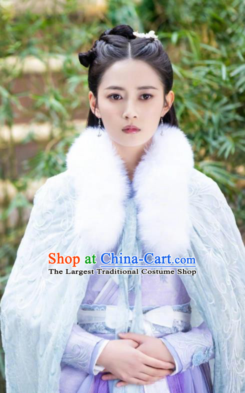 Chinese Ancient Infanta Yuan Qingli Hanfu Dress Drama The Love Lasts Two Minds Costume and Headpiece for Women