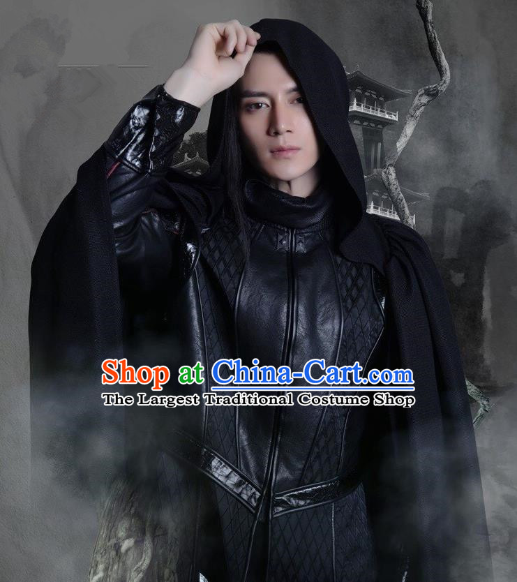 Chinese Ancient Monk Zhi Neng Clothing Historical Drama Colourful Bone Costume and Headpiece for Men
